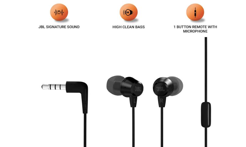 JBL C50HI by Harman best wired earphone